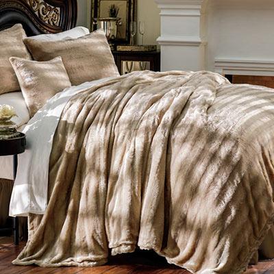 Luxury Faux Fur Bedding & Accessories