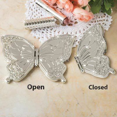 Beautiful Butterfly Compact  - Silver