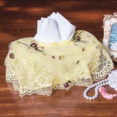 Victorian Lace Tissue Box Cover