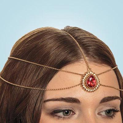 Ruby Teardrop Headpiece