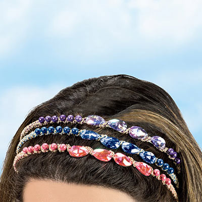 Shimmering Teardrop Headband