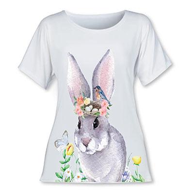 Watercolor Bunny Tee
