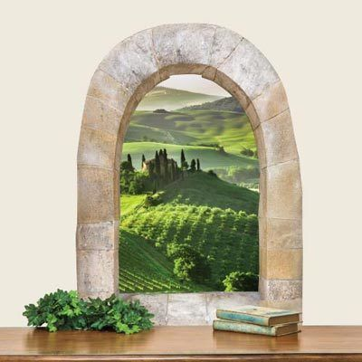 Tuscan Window Wall Sticker