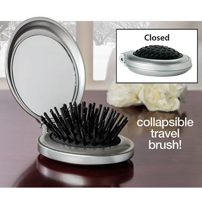 Folding Brush & Mirror