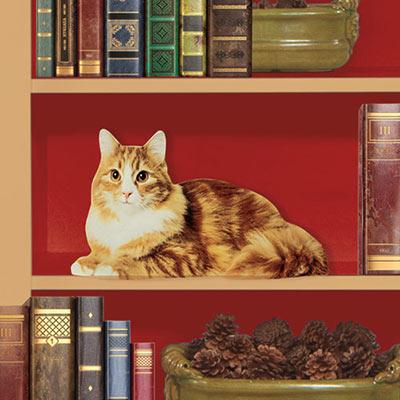 Happy Kitty Purr-fect Door Sitter