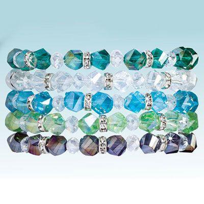 Crystal & Bling Bracelet Set