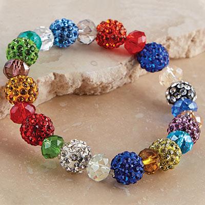 Colorful Pavé Stretch Bracelet