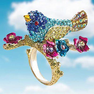 Beautiful Bluebird Ring