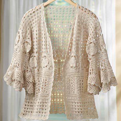 Boho Chic Crocheted Sweater