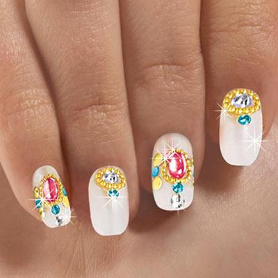 Pink Brilliant Nails