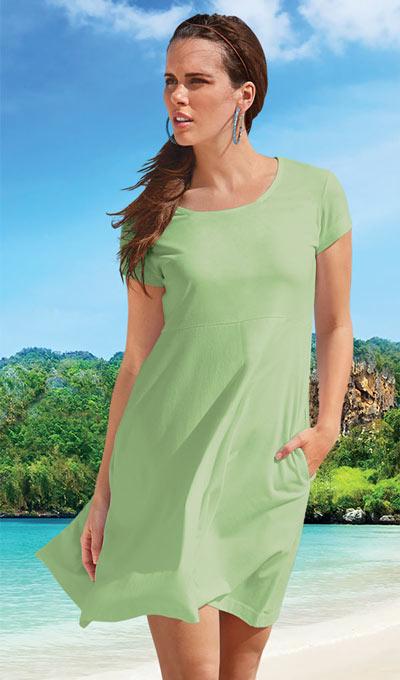 Fun-in-the-Sun Dress - Leaf