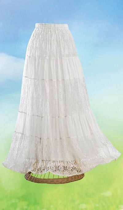 Lacy Tiered Skirt