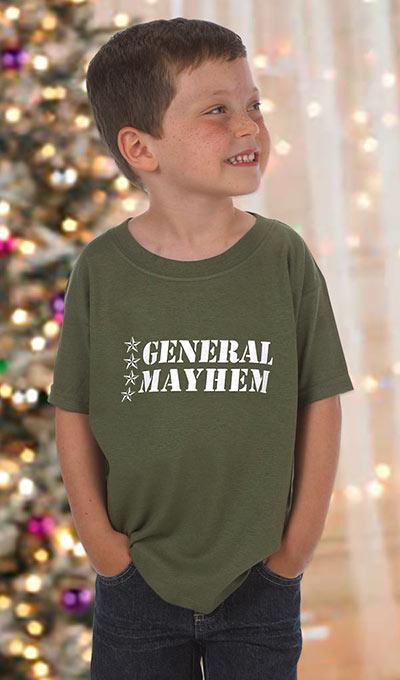 General Mayhem Bootcamp Toddler Tee