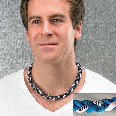 Blue Titanium Twister Necklace