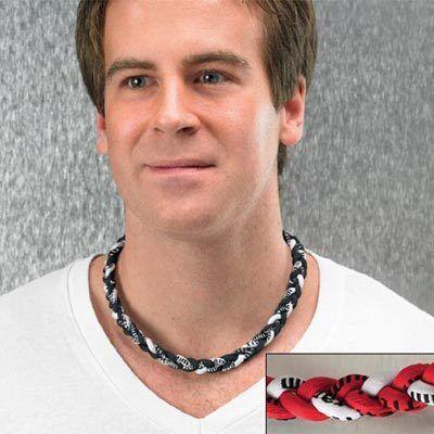 Red Titanium Twister Necklace