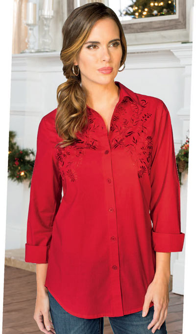 Elegant Embroidered Big Shirt