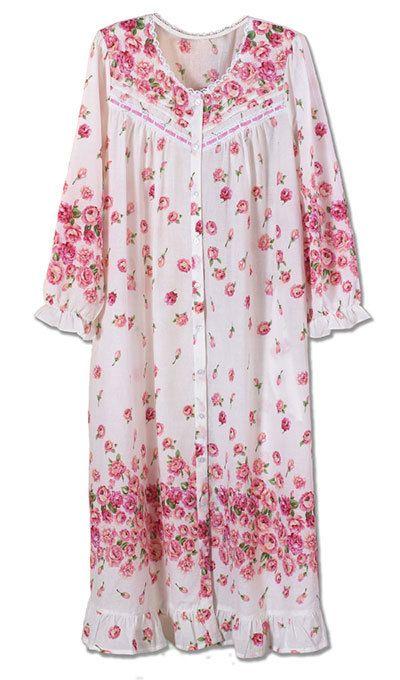 Garden Rose Pintuck Robe