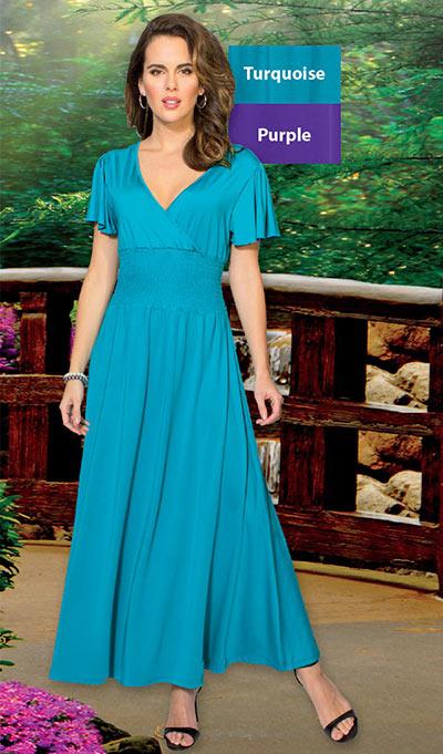 Smocked Empire Waist Dress