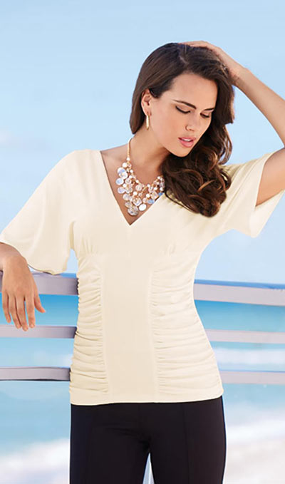 Slenderizing Ruched Top