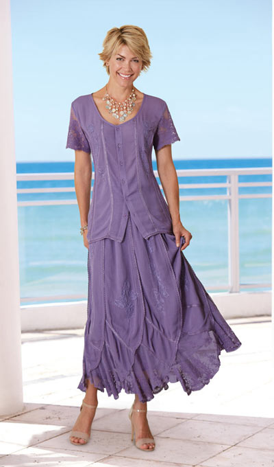 Irresistible Lace Embellished Maxi Skirt  - Wisteria