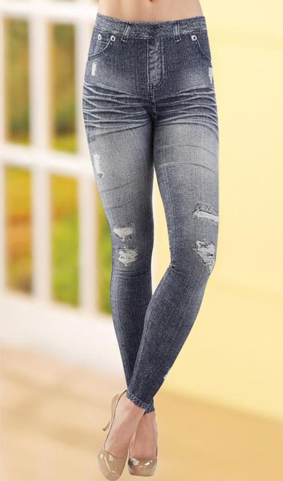 Faux Jeans Leggings