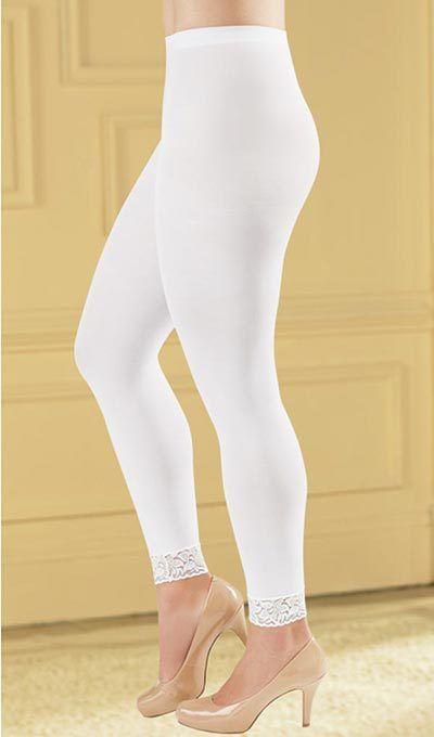 Lace-Trimmed Leggings