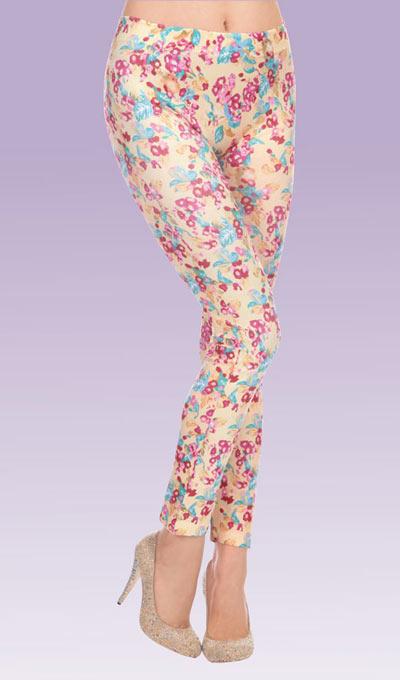 Feminine Floral Leggings