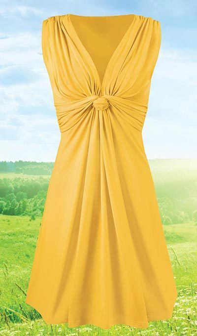 Ruched Twist Dress