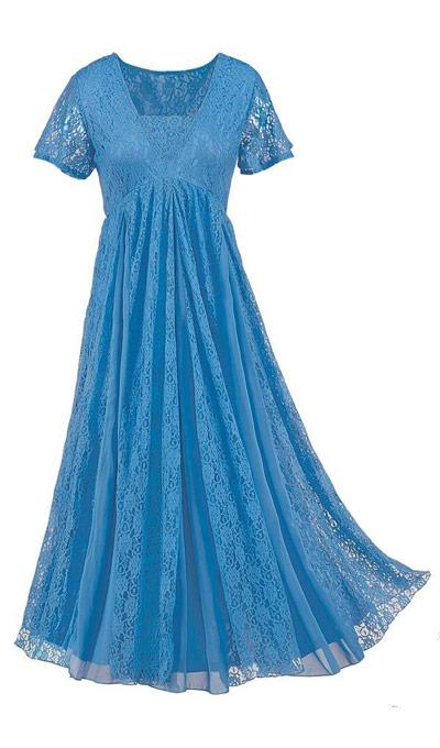 Effortless Lace Dress - Hydrangea