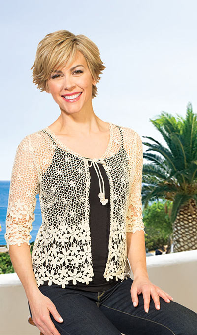 Floral Crocheted Cardigan