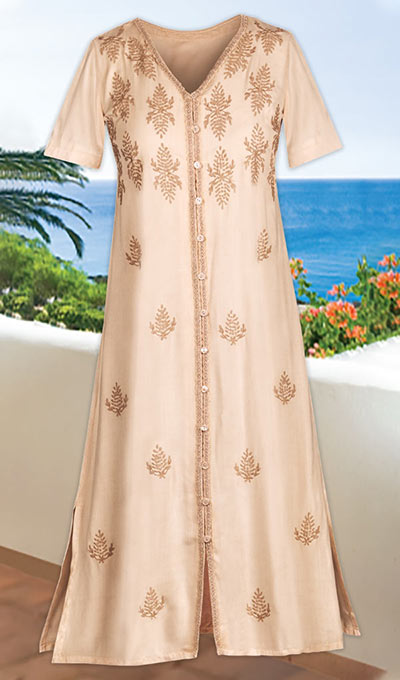 Free Flowing Embroidered Dress