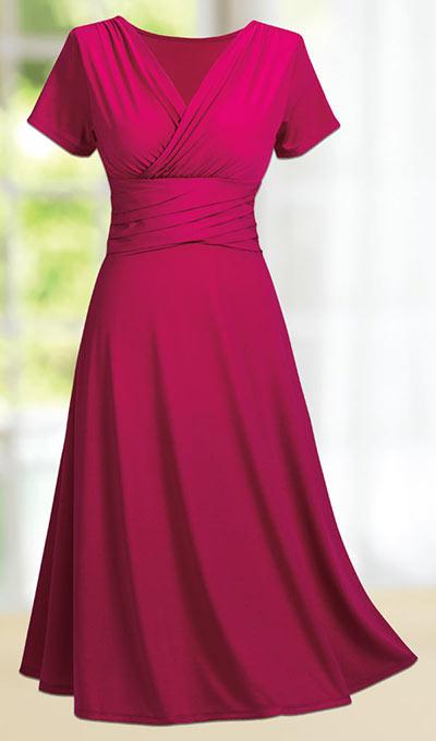 Criss Cross Slenderizing Dress