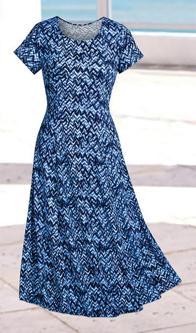 Quintessential Chevron Dress