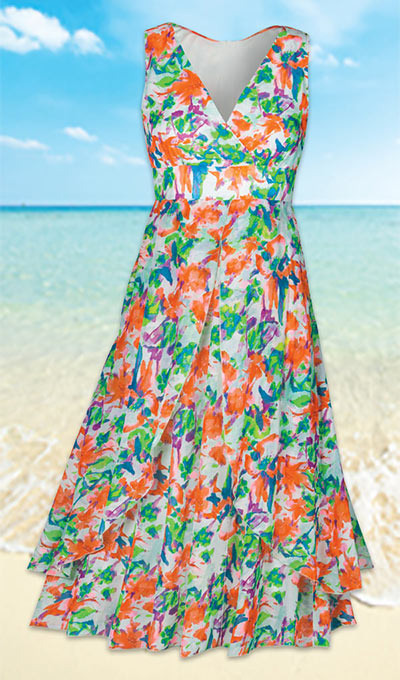 Whispering Watercolor Dress