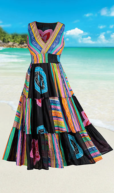 Colorful Tiered Fiesta Dress