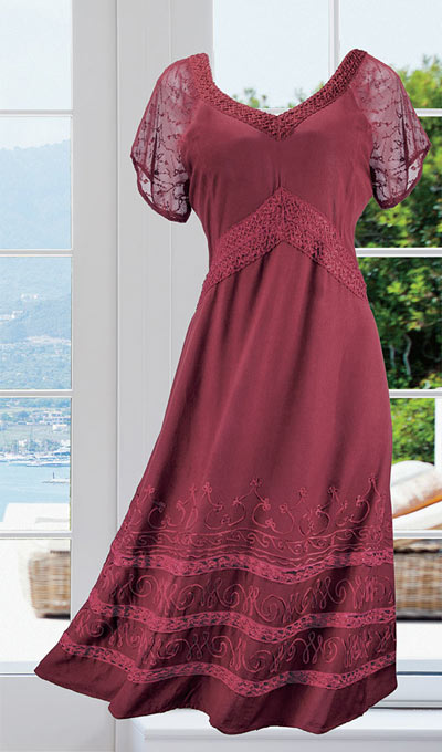 Embroidered Rayon Dress