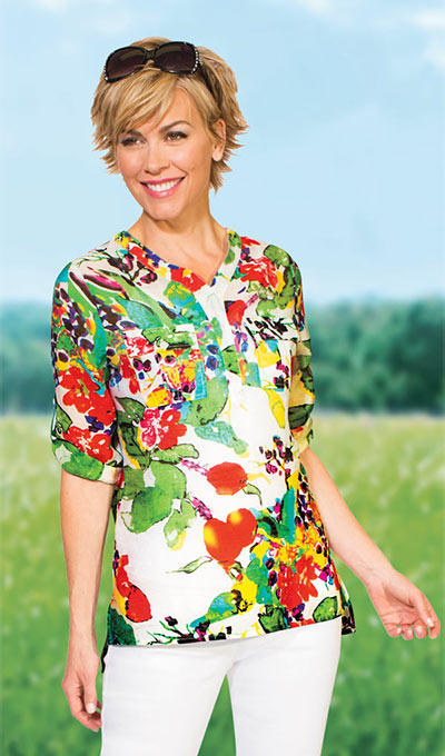 Colorful Blossoms Top