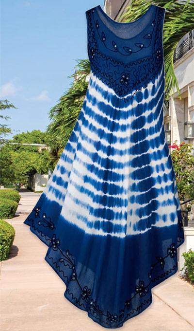 Slimming Stripes Swing Dress