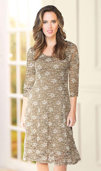 Lavish Latté Lace Dress