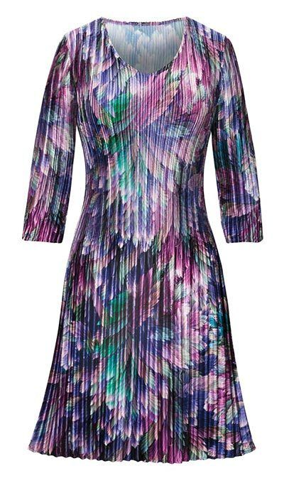 Watercolor Pleated Dress