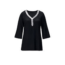 Sequined Trimmed Blouse