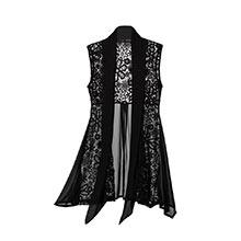 Lacy & Chiffon Vest