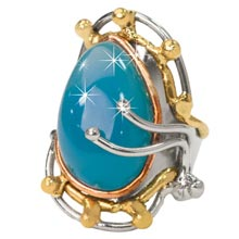 Seafoam Chalcedony Cuff Bracelet