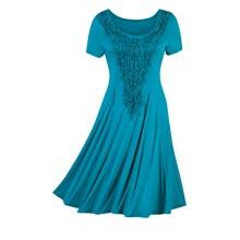 Dramatic Lace Medallion Dress