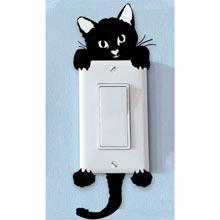 Peek-a-Boo Kitty Decal