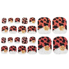 Ladybug Pedicure Appliqués