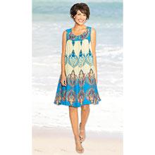 Moroccan Print Dress