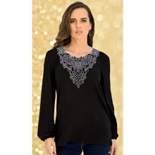 Dramatically Embroidered Top
