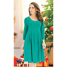 Easy Fit Pleated Dress