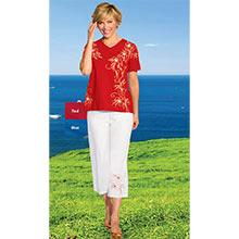 Floral Printed Capri Set